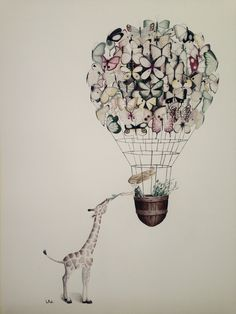 The giraffe and the butterflies. By L Piek