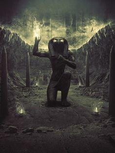 本The Power of Ra (Egyptian Sun God) art by 3MMI