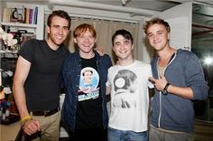 i love harry and ron as much as anyone else.. but i can't say the same about daniel and rupert.. tom and matthew are another story. :)