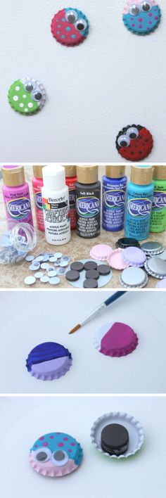 http://hostingecologico.com/url/fathersday2016 ---- Bug Magnet Kids Craft with Bottle Caps | 18 DIY Fathers Day Gifts from Kids for Grandpa | Easy Birthday Gifts for Dad from Kids