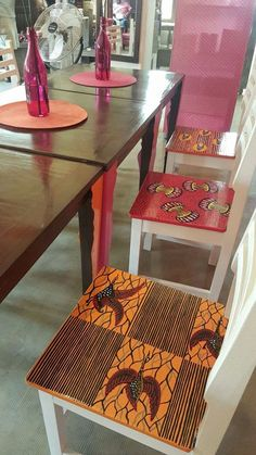 Nice idea to add some whimsy to small apartment living Decoration Restaurant, Deco Restaurant, Ethnic Home Decor, African Home Decor, African Furniture, African Interior, Ethno Style, Ankara, Diy Décoration