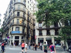 One of the mainc streets of Barcelona