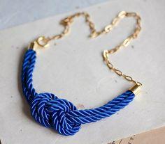 DIY Nautical Rope Necklace