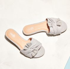 7e31319086f Channel a nautical style in  Spain  this flat stripy knot detail sandal  will add