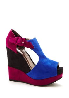 ideeli | contemporary cravings sale - Luichiny - Cobalt/Fuchsia Multi Buckle Up