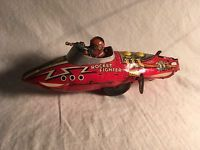 VINTAGE MARX Wind up FLASH GORDON ROCKET FIGHTER TIN SPACE TOY