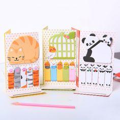 1 pcs Bonito Panda Gato N Vezes Sticky Notes Memo Pad Papel Autocolante Postá-lo Notepad Presente do Escritório Dos Artigos de Papelaria Escolar