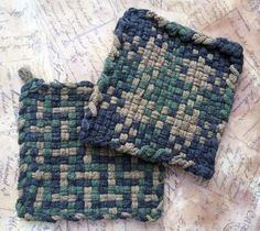 Camo Green Camping Hunting Hot Pad  David's by RescuedOfferings