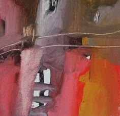 Esencia.  La verdad del Ser. Pigmento, resina / lienzo 15×15 Proceso aditivo en un único sentido; negro, rojo, ocre, blanco.