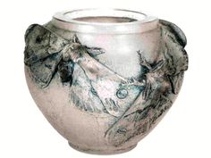 Lalique 'Butterflies' Vase, 1913: clear patinated glass, 12cm, signed 'Lalique'…