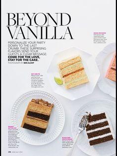 Brides Magazine    Cake Flavors