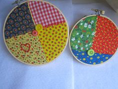 Country Patchwork Embroidery Hoop Art by StitchFreakOnline on Etsy, $30.00