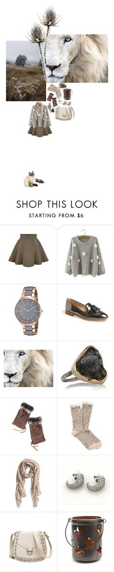 """""""Первые морозы"""" by anya-moscow ❤ liked on Polyvore featuring Anne Klein, Louise et Cie, Melissa Joy Manning, Overland Sheepskin Co., maurices, H&M, Carrera y Carrera, Decoris, set and look"""