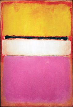 'White Center (Yellow, Pink and Lavender on Rose)' - 1950 - by Mark Rothko (Russian, American 1903-1970) - Sold for  USD 72.84 million in 2007 - @Mlle