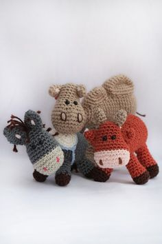 Crochet pattern ox, donkey and camel