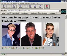 This Justin Timberlake fan site: | 48 Pictures That Perfectly Capture The '90s
