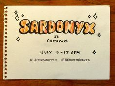 July 13, Sardonyx is coming. who is it? Homeworld gem? or  some left behind crystal gem that poofed or something?