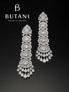 Get ready for year end celebrations starting with some diamonds #Butani #ButaniJewellery #Diamonds #Earrings #Bridal