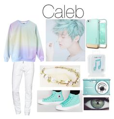 """""""Caleb's Outfit #1"""" by princessllamacorn ❤ liked on Polyvore featuring Dsquared2, Tuttle, Converse, Happy Plugs, men's fashion and menswear"""