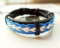 Christmas Cool Light Blue and white elastic by Colourfashion, $3.50