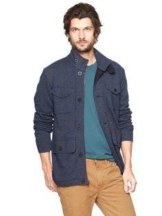 a6bc1136 Fleece four-pocket jacket | Gap Denim Button Up, Button Up Shirts, Shopping