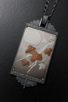 (C) KAZNESQ  Silver and copper Keum Boo picture pendant. US$300