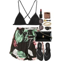 The beach not to swim by xoxomuty on Polyvore featuring polyvore fashion style Topshop Kiki de Montparnasse Old Navy Salvatore Ferragamo Movado Seasonal Whispers Yves Saint Laurent Hourglass Cosmetics NARS Cosmetics Anna Sui