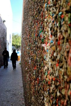 Wall Covered in Chewing Gum (Bubble Gum Alley, San Luis Obispo)