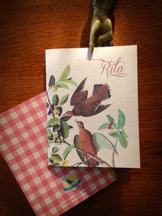 Oiseaux Personalized Note Card Set by Earmark Social Paper Goods