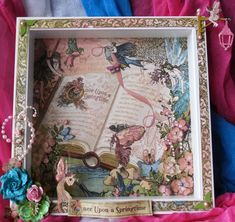 shadowbox idea--base it on a book...this is adorable...so many things you can do with a shadowbox :)