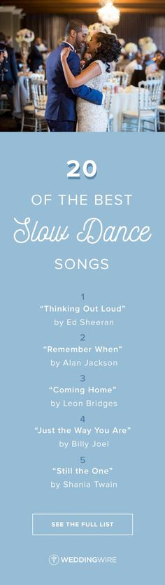 20 of the Best Slow Dance Songs for Your Wedding - Looking for the perfect song to slow it down and set the mood at your wedding? See some of our favorite ballads on /weddingwire/! {Bellagala Photography}