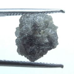 0.72 ct natural gray color raw uncut rough loose diamond drilled beads africa NR