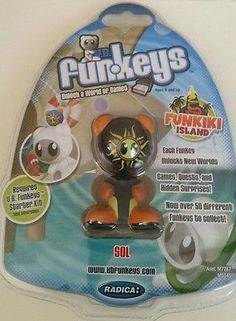 NIP UB Funkeys Funkiki Island Solar Black Rare Mattel World of Games Action