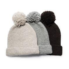 Llama Wool Knit Pom Pom Hat