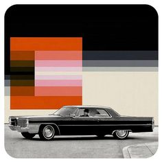 "910 Likes, 55 Comments - Perry Brown (@madebackthen) on Instagram: ""Mid-Century mash-up: 1965 Cadillac Coupe Deville vs. Karl Gerstner, 1974."""