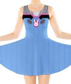 OVERWATCH D.VA Inspired Skater Dress  Preorder by KYOCATclothing
