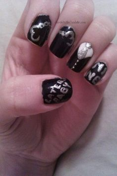 Fifty Shades of Grey Nails