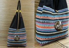 Elephant Shoulder Bag Purse  Hand Woven IKAT by BenThaiProducts, $14.50