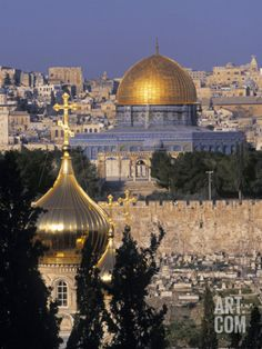 Dome of the Rock, Temple Mount, Jerusalem, Israel Photographic Print by Jon Arnold at Art.com