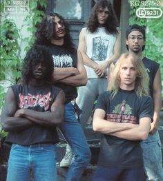 Suffocation (L to R. Mike Smith - Drums, Doug Cerrito - R. Guitars, Chris Richards - Bass, Frank Mullen - Vocals, & Terrance Hobbs - L. Guitars)
