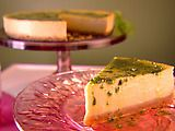 Mango Cheesecake with basil-lemon syrup. I saw Giada make this on tv yesterday and I had to look up the recipe. Can't wait to try it our in our new springform pan.