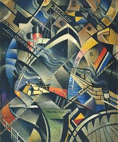 The Arrival - Christopher Richard Wynne Nevinson (1913). Nevinson was a painter during in Futurism Era which reflected the modernisation of Italian art and social attitudes. The Futurism artists rejected the art and culture of the past and embraced modern technology such as cars and trams, the Machine Age, the excitement and speed of city life and the violence of war. The Futurists called on elements of Cubism and Divisionism to create a new style remote from the old artistic traditions.