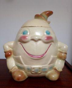 RARE-Vintage-Brush-McCoy-Humpty-Dumpty-Cookie-Jar- ON SALE