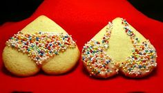 Bra and Undies Valentine Cookies..clever use of the heart shape