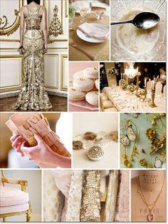 Heart of Gold Inspiration board. Gold, Pink, Blush & Peach!