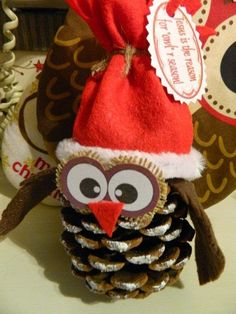 Make with a toque and mittens-Owl ornament. This could be fun to make and I don't think it would be hard to figure out how to do it either. Christmas Owls, Christmas Crafts For Kids, Diy Christmas Ornaments, Homemade Christmas, Christmas Projects, Holiday Crafts, Christmas Holidays, Christmas Decorations, Christmas Is Coming