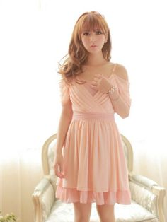 Feminine pink dress from asianicandy