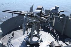 Starboard side 20mm gun aboard the USS SLATER DE766