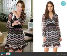 Liza's striped long sleeve dress on Younger.  Outfit Details: https://wornontv.net/62262/ #Younger