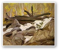 Casson, Below Ragged Falls, Canadian Group of Seven Canadian Painters, Canadian Artists, Group Of Seven Art, Tom Thomson Paintings, Landscape Paintings, Landscapes, Emily Carr, Most Famous Artists, Biomes